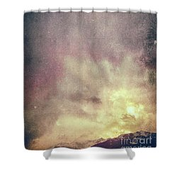 Shower Curtain featuring the photograph Alps With Dramatic Sky by Silvia Ganora