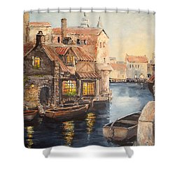 Alsace At Dusk Shower Curtain
