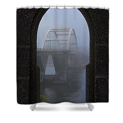 Shower Curtain featuring the photograph Alsea Bay Bridge by Darren White