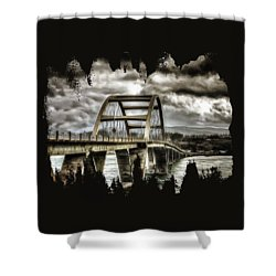 Alsea Bay Bridge Shower Curtain by Thom Zehrfeld