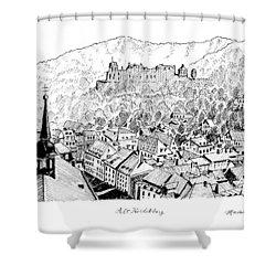 Alt Heidelberg Shower Curtain by Masatoki Miyagi