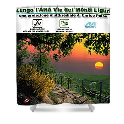 Alta Via Dei Monti Liguri Cd Case Label Shower Curtain