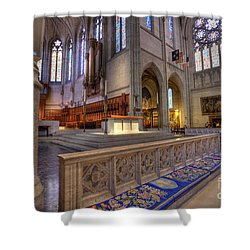 Altar At Grace Cathedral Shower Curtain by David Bearden