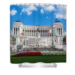 Altare Della Patria-3344 Shower Curtain