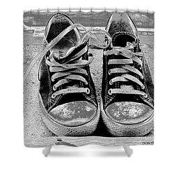 Old Sneakers. Shower Curtain by Don Pedro De Gracia