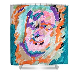Shower Curtain featuring the painting Alter Ego by Esther Newman-Cohen