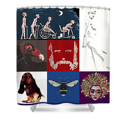 Alter Ego Montage Shower Curtain