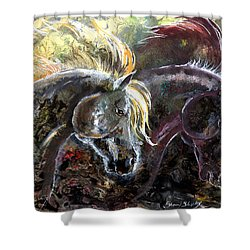 Shower Curtain featuring the painting Alter Ego by Sherry Shipley