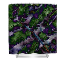 Altered Plant Shower Curtain