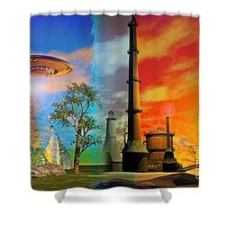 Alternate Realities Shower Curtain