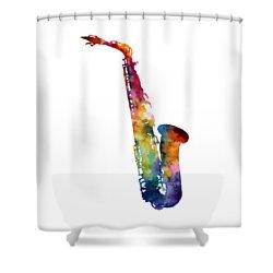 Alto Sax Shower Curtain