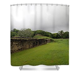 Altun Ha #1 Shower Curtain by Lois Lepisto