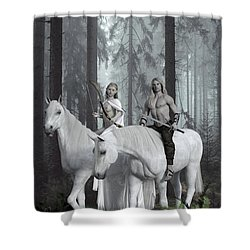 Alver Shower Curtain by Andy Renard