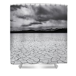 Shower Curtain featuring the photograph Alvord Desert by Cat Connor