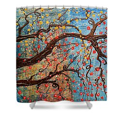 Shower Curtain featuring the mixed media Always Dream by Natalie Briney