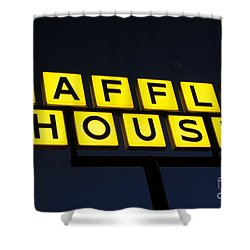 Always Open Waffle House Classic Signage Art  Shower Curtain