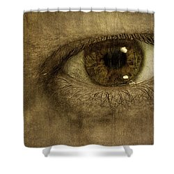 Always Watching Shower Curtain by Scott Norris