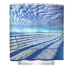 Shower Curtain featuring the photograph Always Whiter On The Other Side Of The Fence by Phil Koch