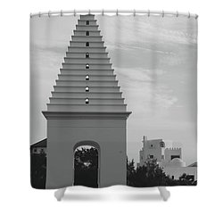 Alys Beach Butteries Shower Curtain by Megan Cohen