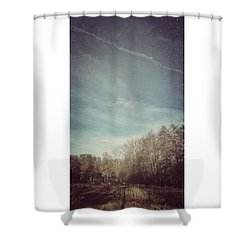 Am Himmel Die Wolken  #wolken #himmel Shower Curtain