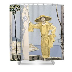 Amalfi Shower Curtain by Georges Barbier