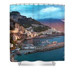 Amalfi Sunrise Shower Curtain by Brian Jannsen