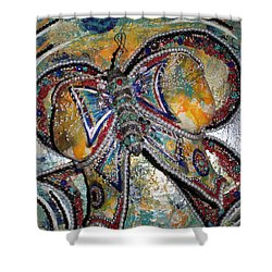 Amanda - My Precious Butterfly Supporter Shower Curtain