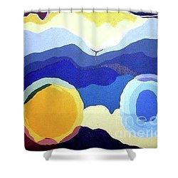 Amandas Abstract Shower Curtain