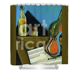Amandas Violin Shower Curtain