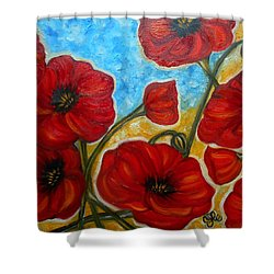 Amapolas Shower Curtain