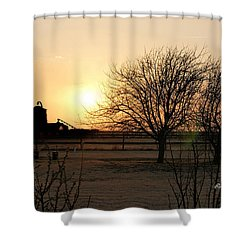 Amarillo Sunset Shower Curtain by Ricky Dean
