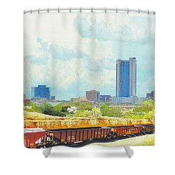 Amarillo Texas In The Spring Shower Curtain