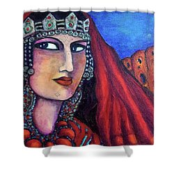 Amazigh Beauty 1 Shower Curtain by Rae Chichilnitsky