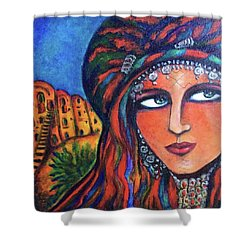 Amazigh Beauty 2 Shower Curtain by Rae Chichilnitsky