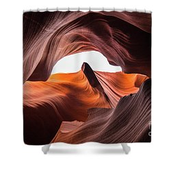 Amazing Antelope Canyon Shower Curtain by JR Photography