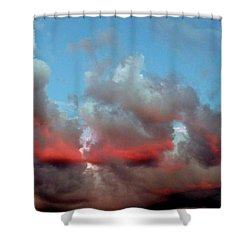 Imaginary Real Clouds  Shower Curtain