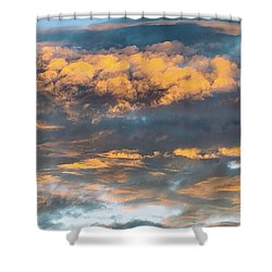 Clouds Of A Different Color Shower Curtain