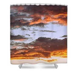 Glorious Clouds At Sunset Shower Curtain
