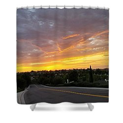 Colorful Sunset In Mission Viejo Shower Curtain
