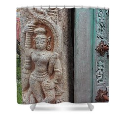 Amazing Door And Column, Fort Kochi Shower Curtain by Jennifer Mazzucco