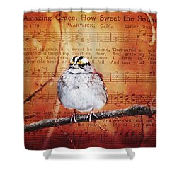 Amazing Grace Shower Curtain by Trina Ansel