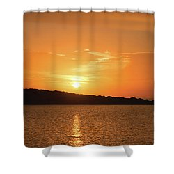 Dawn In Ibiza, Spain Shower Curtain