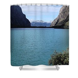 Amazing Lake Up In The Mountains Of The Shower Curtain
