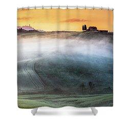 Amazing Landscape Of Tuscany Shower Curtain by Evgeni Dinev