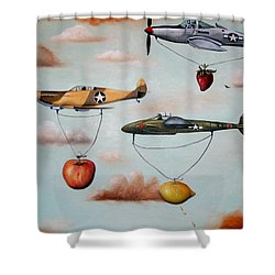 Amazing Race 2 Shower Curtain by Leah Saulnier The Painting Maniac