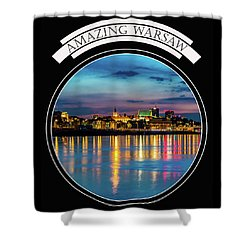 Amazing Warsaw Tee 1 Shower Curtain