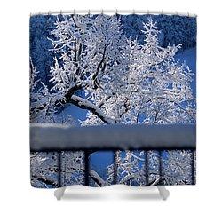 Shower Curtain featuring the photograph Amazing - Winterwonderland In Switzerland by Susanne Van Hulst