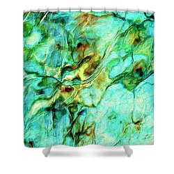 Shower Curtain featuring the painting Amazon by Dominic Piperata