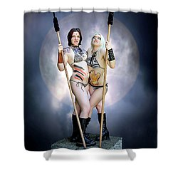 Amazon With Spears Shower Curtain