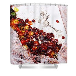 Shower Curtain featuring the photograph Amber #8925 by Andrey  Godyaykin